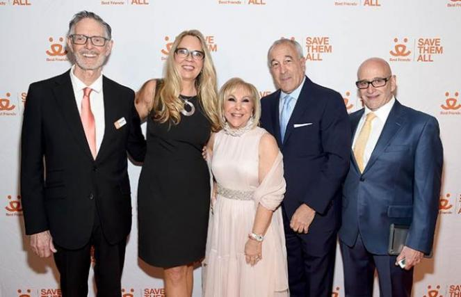 Honoring Candy Udell with Gregory and Julie Castle and Francis Battista at the New York Benefit to Save Them All