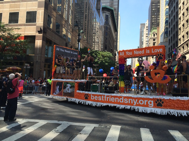 Best Friends Animal Society float at Pride Parade